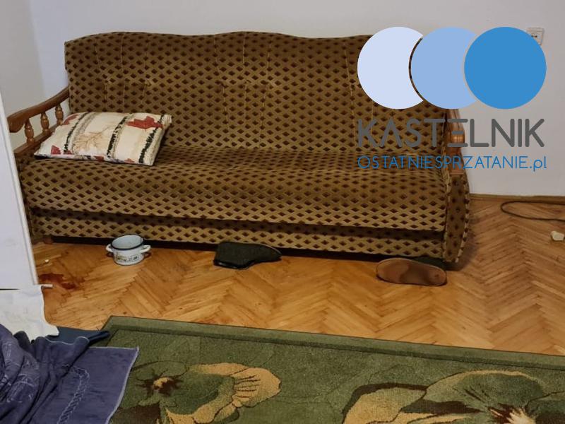 Oczyszczania kilku pomieszczeń tyskiego bloku po śmierci samobójcy