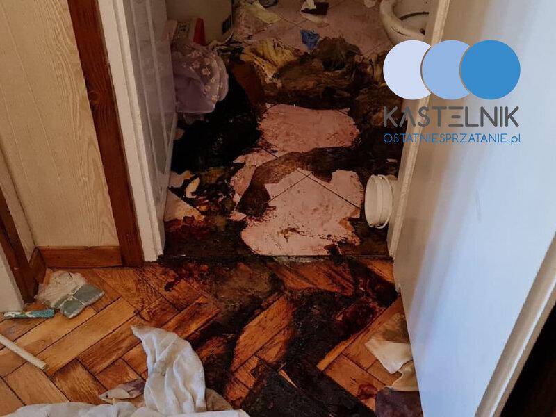 Sprzątanie po zmarłych w Grodzisku Mazowieckim