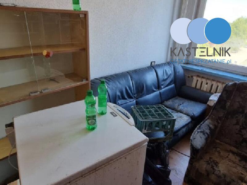 Sprzątanie po zgonie samobójczym w Łowiczu