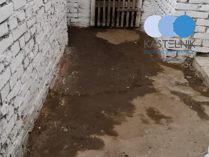 Sprzątanie piwnicy po zwłokach na terenie Koszalina
